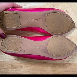 Nine West Shoes - Nine West Speakup Almond Toe Patent Pink Flats